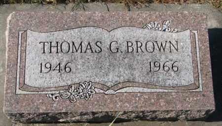 BROWN, THOMAS G. - Clay County, South Dakota   THOMAS G. BROWN - South Dakota Gravestone Photos