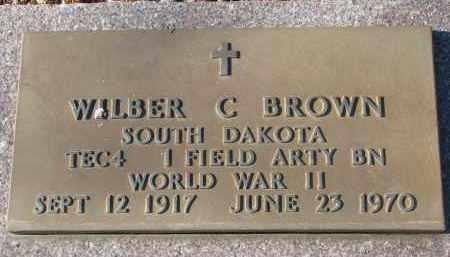 BROWN, WILBER C. - Clay County, South Dakota | WILBER C. BROWN - South Dakota Gravestone Photos