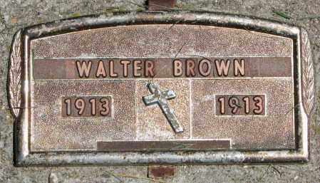BROWN, WALTER - Clay County, South Dakota | WALTER BROWN - South Dakota Gravestone Photos