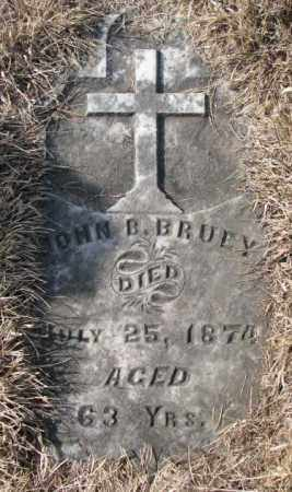 BRUEY, JOHN B. - Clay County, South Dakota | JOHN B. BRUEY - South Dakota Gravestone Photos