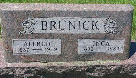 BRUNICK, INGA - Clay County, South Dakota | INGA BRUNICK - South Dakota Gravestone Photos