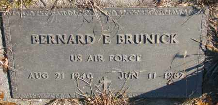 BRUNICK, BERNARD E. - Clay County, South Dakota | BERNARD E. BRUNICK - South Dakota Gravestone Photos