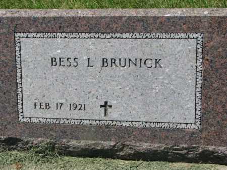 BRUNICK, BESS L. - Clay County, South Dakota | BESS L. BRUNICK - South Dakota Gravestone Photos