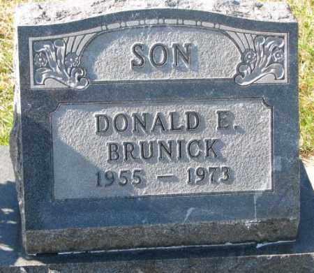 BRUNICK, DONALD E. - Clay County, South Dakota   DONALD E. BRUNICK - South Dakota Gravestone Photos
