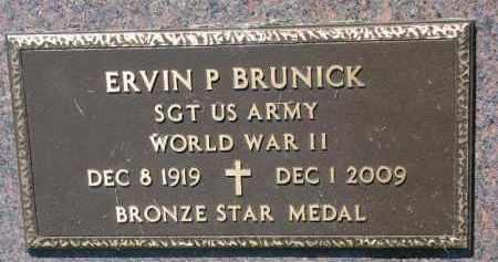 BRUNICK, ERVIN P. (WW II) - Clay County, South Dakota   ERVIN P. (WW II) BRUNICK - South Dakota Gravestone Photos
