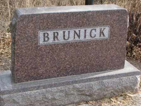 BRUNICK, FAMILY STONE - Clay County, South Dakota   FAMILY STONE BRUNICK - South Dakota Gravestone Photos
