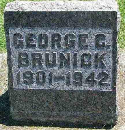 BRUNICK, GEORGE G. - Clay County, South Dakota | GEORGE G. BRUNICK - South Dakota Gravestone Photos