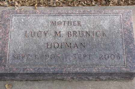 BRUNICK, LUCY M. - Clay County, South Dakota | LUCY M. BRUNICK - South Dakota Gravestone Photos