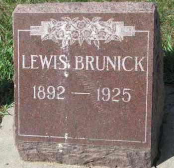 BRUNICK, LEWIS - Clay County, South Dakota | LEWIS BRUNICK - South Dakota Gravestone Photos