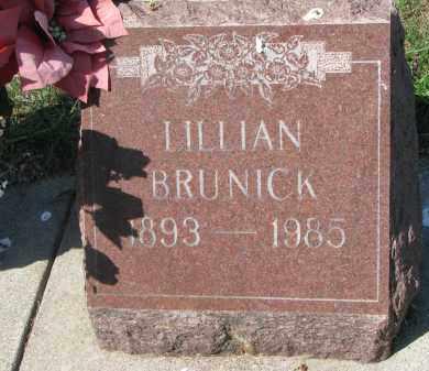 BRUNICK, LILLIAN - Clay County, South Dakota   LILLIAN BRUNICK - South Dakota Gravestone Photos