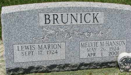 BRUNICK, LEWIS MARION - Clay County, South Dakota | LEWIS MARION BRUNICK - South Dakota Gravestone Photos