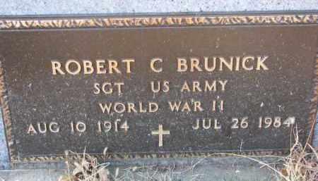 BRUNICK, ROBERT C. (WW II) - Clay County, South Dakota | ROBERT C. (WW II) BRUNICK - South Dakota Gravestone Photos