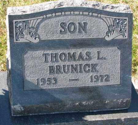 BRUNICK, THOMAS L. - Clay County, South Dakota | THOMAS L. BRUNICK - South Dakota Gravestone Photos