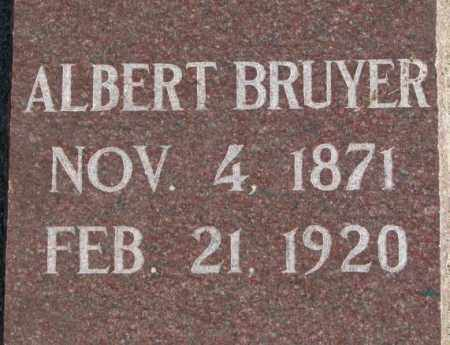 BRUYER, ALBERT - Clay County, South Dakota   ALBERT BRUYER - South Dakota Gravestone Photos