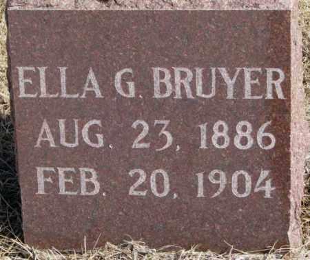 BRUYER, ELLA G. - Clay County, South Dakota | ELLA G. BRUYER - South Dakota Gravestone Photos