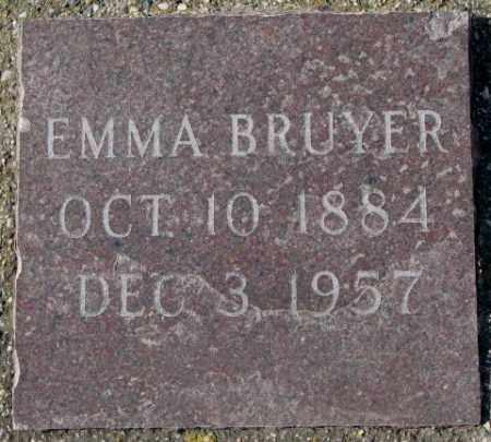 BRUYER, EMMA - Clay County, South Dakota   EMMA BRUYER - South Dakota Gravestone Photos