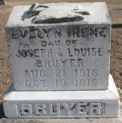 BRUYER, EVELYN IRENE - Clay County, South Dakota | EVELYN IRENE BRUYER - South Dakota Gravestone Photos