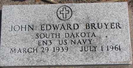 BRUYER, JOHN EDWARD (MILITARY) - Clay County, South Dakota   JOHN EDWARD (MILITARY) BRUYER - South Dakota Gravestone Photos