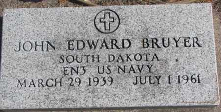 BRUYER, JOHN EDWARD (MILITARY) - Clay County, South Dakota | JOHN EDWARD (MILITARY) BRUYER - South Dakota Gravestone Photos