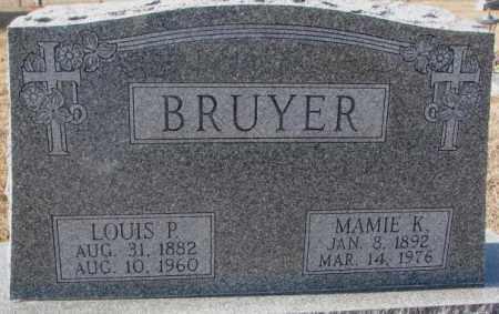 BRUYER, MAMIE K. - Clay County, South Dakota | MAMIE K. BRUYER - South Dakota Gravestone Photos