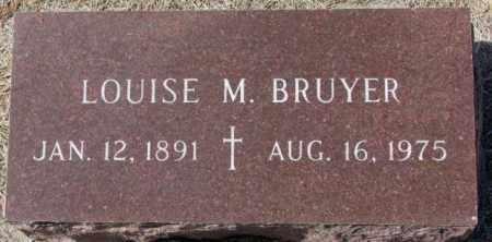 BRUYER, LOUISE M. - Clay County, South Dakota   LOUISE M. BRUYER - South Dakota Gravestone Photos
