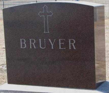 BRUYER, PLOT - Clay County, South Dakota   PLOT BRUYER - South Dakota Gravestone Photos