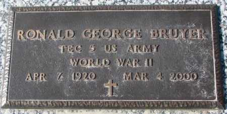 BRUYER, RONALD GEORGE (WW II) - Clay County, South Dakota | RONALD GEORGE (WW II) BRUYER - South Dakota Gravestone Photos