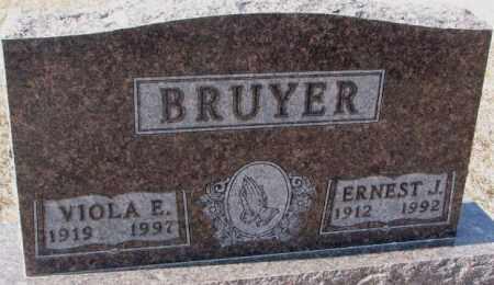 BRUYER, VIOLA E. - Clay County, South Dakota | VIOLA E. BRUYER - South Dakota Gravestone Photos