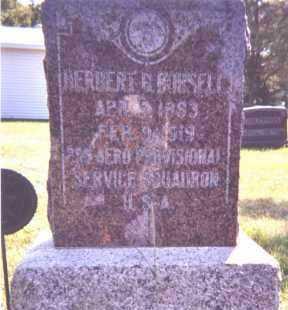 BURSELL, HERBERT B. - Clay County, South Dakota   HERBERT B. BURSELL - South Dakota Gravestone Photos