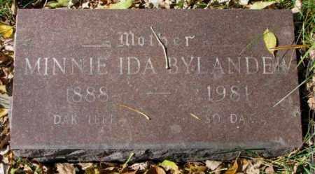 BYLANDER, MINNIE IDA - Clay County, South Dakota | MINNIE IDA BYLANDER - South Dakota Gravestone Photos