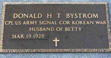 BYSTROM, DONALD H.T. - Clay County, South Dakota | DONALD H.T. BYSTROM - South Dakota Gravestone Photos