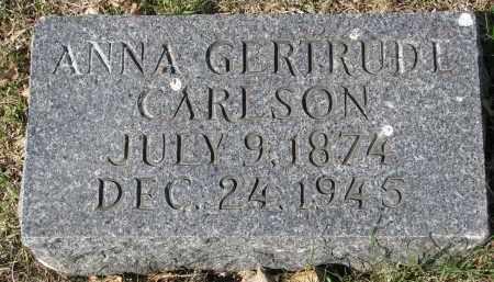 CARLSON, ANNA GERTRUDE - Clay County, South Dakota | ANNA GERTRUDE CARLSON - South Dakota Gravestone Photos