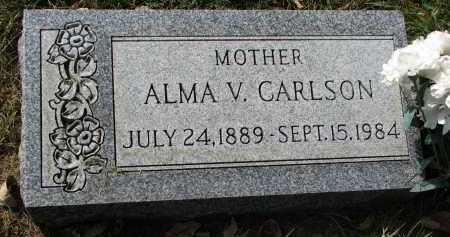 CARLSON, ALMA V. - Clay County, South Dakota | ALMA V. CARLSON - South Dakota Gravestone Photos