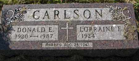 CARLSON, LORRAINE E. - Clay County, South Dakota | LORRAINE E. CARLSON - South Dakota Gravestone Photos