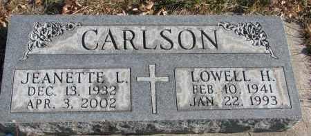 CARLSON, JEANETTE L. - Clay County, South Dakota | JEANETTE L. CARLSON - South Dakota Gravestone Photos
