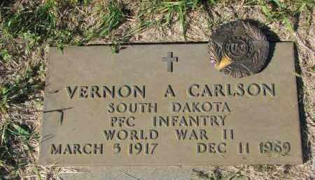 CARLSON, VERNON A. (WW II) - Clay County, South Dakota | VERNON A. (WW II) CARLSON - South Dakota Gravestone Photos