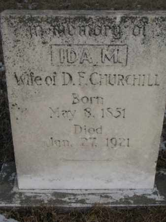 CHURCHILL, IDA M. - Clay County, South Dakota | IDA M. CHURCHILL - South Dakota Gravestone Photos