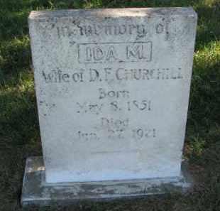 CHURCHILL, IDA M. - Clay County, South Dakota | IDA M. CHURCHILL - South Dakota Gravestone Photos