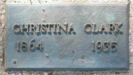 CLARK, CHRISTINA - Clay County, South Dakota | CHRISTINA CLARK - South Dakota Gravestone Photos