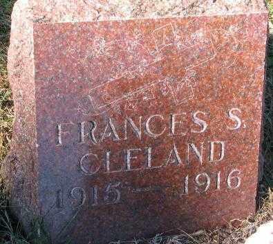 CLELAND, FRANCES S. - Clay County, South Dakota | FRANCES S. CLELAND - South Dakota Gravestone Photos