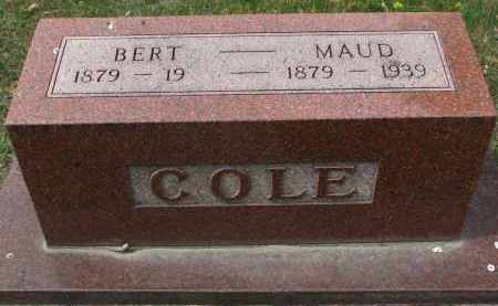 COLE, BERT - Clay County, South Dakota | BERT COLE - South Dakota Gravestone Photos