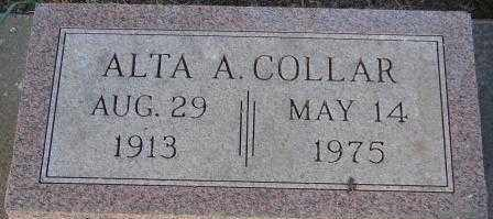 COLLAR, ALTA A. - Clay County, South Dakota | ALTA A. COLLAR - South Dakota Gravestone Photos