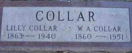 COLLAR, WILLIAM AUGUSTUS - Clay County, South Dakota | WILLIAM AUGUSTUS COLLAR - South Dakota Gravestone Photos