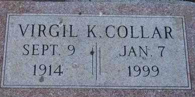 COLLAR, VIRGIL K. - Clay County, South Dakota | VIRGIL K. COLLAR - South Dakota Gravestone Photos