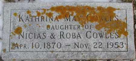 COWLES, KATHRINA MAY - Clay County, South Dakota | KATHRINA MAY COWLES - South Dakota Gravestone Photos