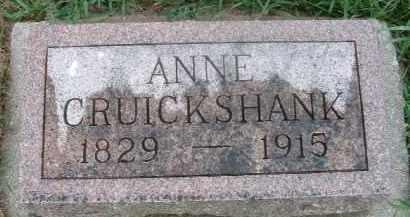 CRUICKSHANK, ANNE - Clay County, South Dakota   ANNE CRUICKSHANK - South Dakota Gravestone Photos