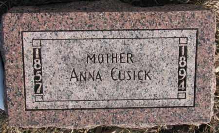 CUSICK, ANNA - Clay County, South Dakota   ANNA CUSICK - South Dakota Gravestone Photos