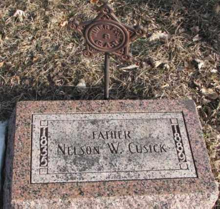 CUSICK, NELSON W. - Clay County, South Dakota   NELSON W. CUSICK - South Dakota Gravestone Photos