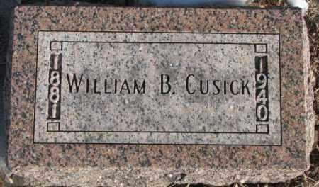 CUSICK, WILLIAM B. - Clay County, South Dakota   WILLIAM B. CUSICK - South Dakota Gravestone Photos