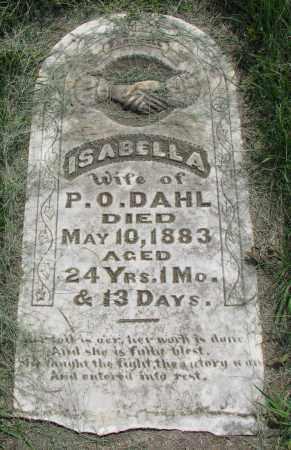 DAHL, ISABELLA - Clay County, South Dakota | ISABELLA DAHL - South Dakota Gravestone Photos